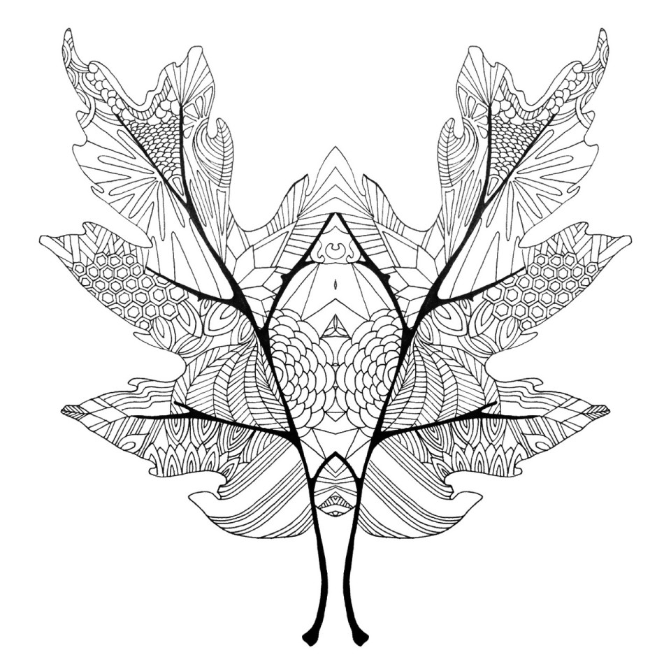 fall mirror leaves coloring page twineandtable