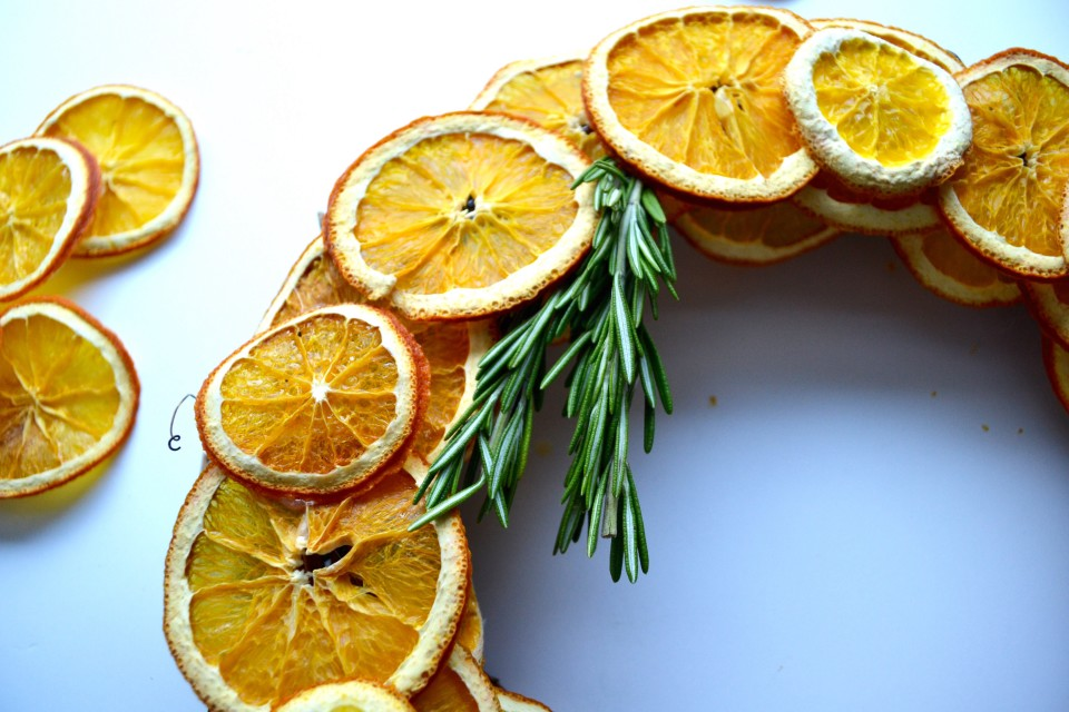 twine and table citrus wreath rosemary