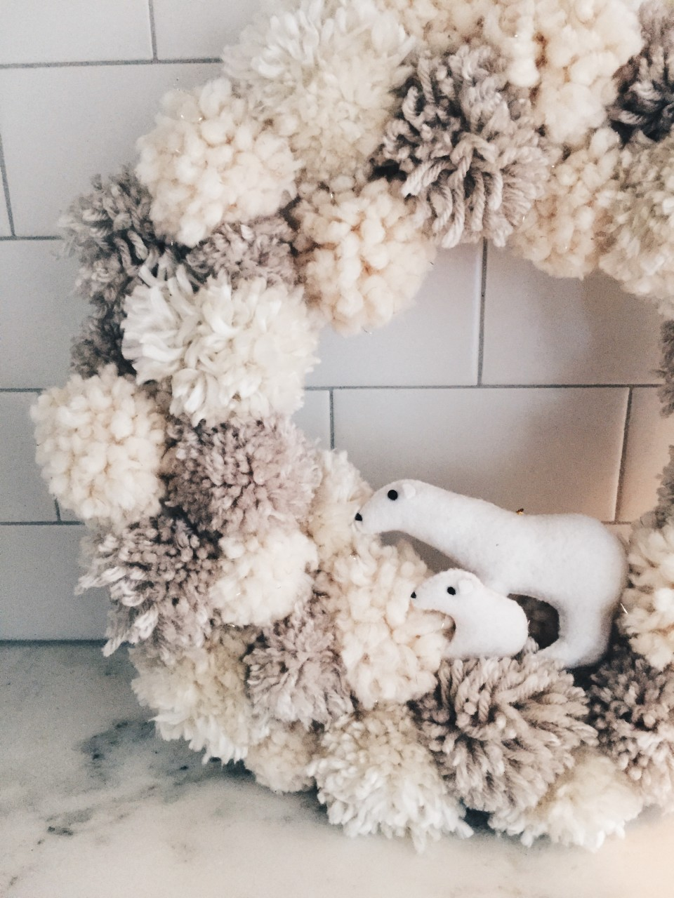 twineandtable pompom wreath