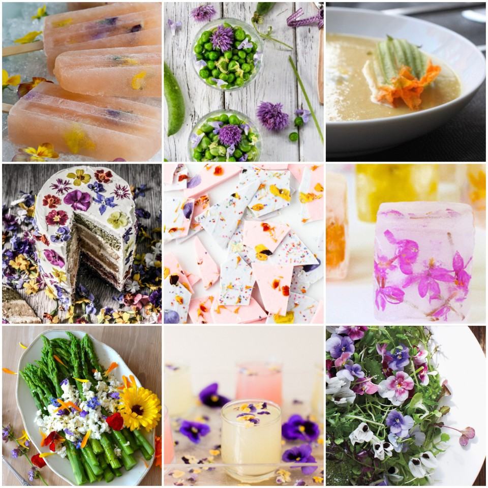 Edible flower grid