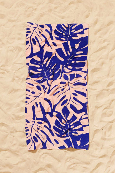 palm print towel