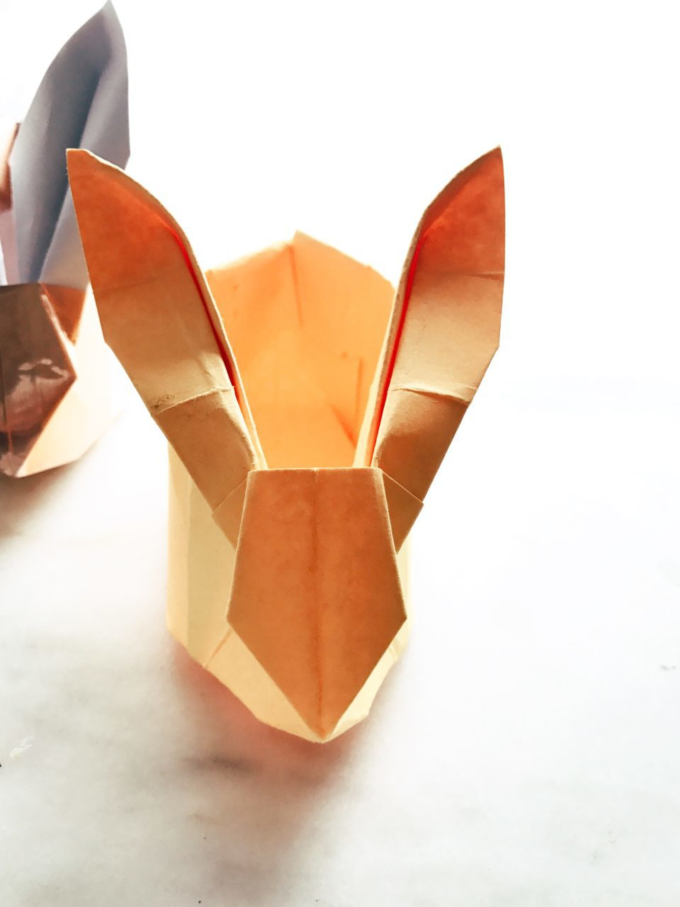 origami bunny planters � twineandtable